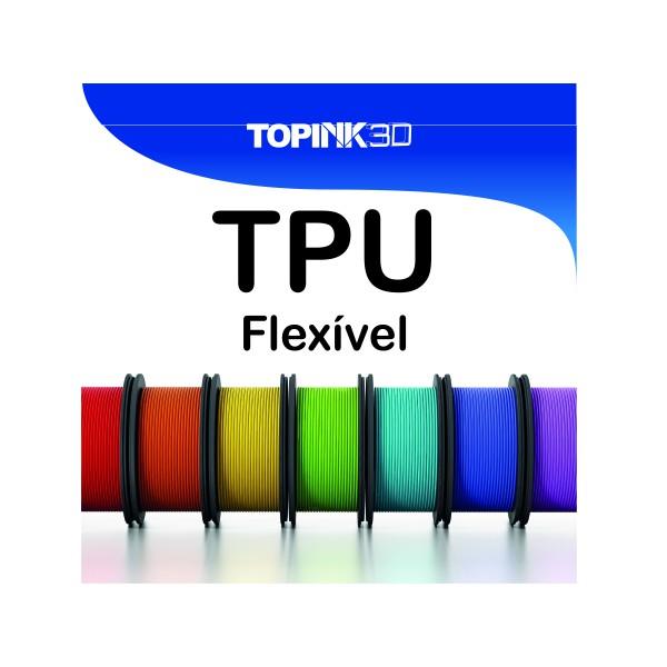 Filamento Flexível - 1.75mm - 500 grs - Verde