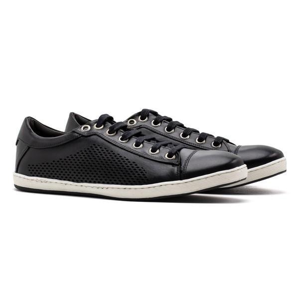 Sneaker Balder Couro Preto