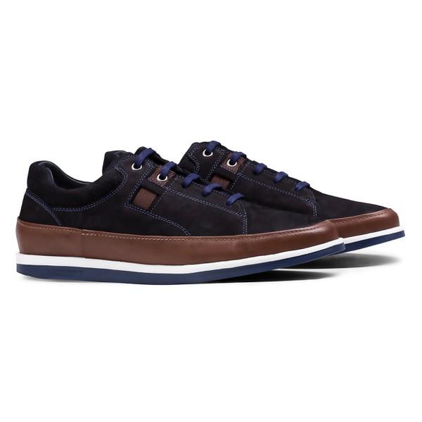 Sneaker Balder Nobuck Azul Marinho