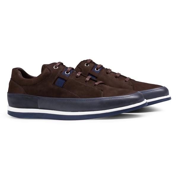 Sneaker Balder Nobuck Marrom