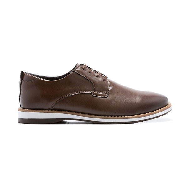 SAPATO CASUAL FRANSHOES DERBY CAPUCCINO