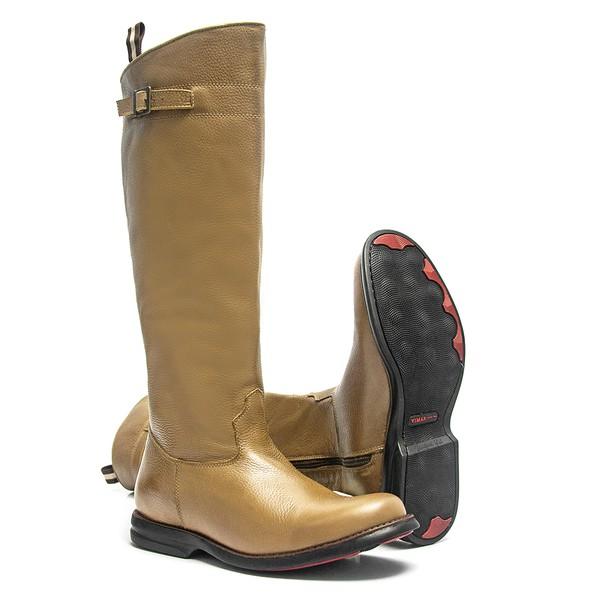 Bota Montaria Masculina - Floather Tan - Comfort - Bico Redondo - Cano Longo - Black Horse