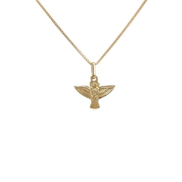 Pingente Espírito Santo mini em ouro 18k