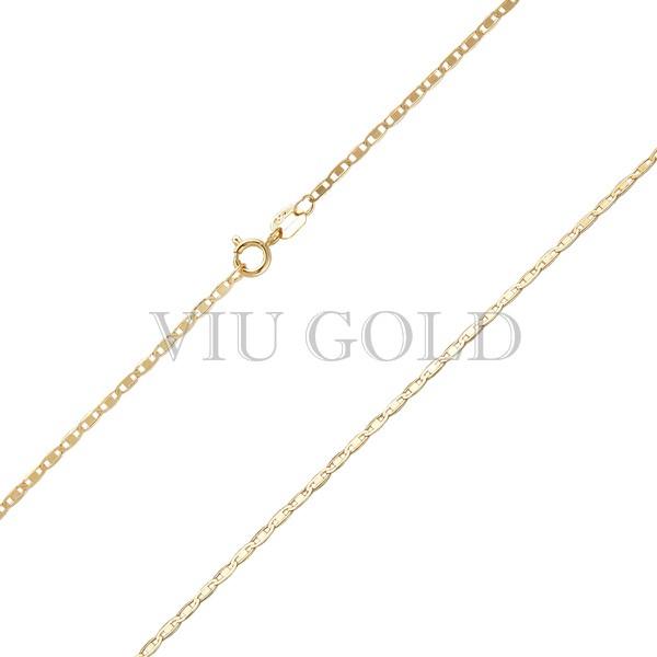 Corrente Piastrine de 45cm em ouro 18k amarelo