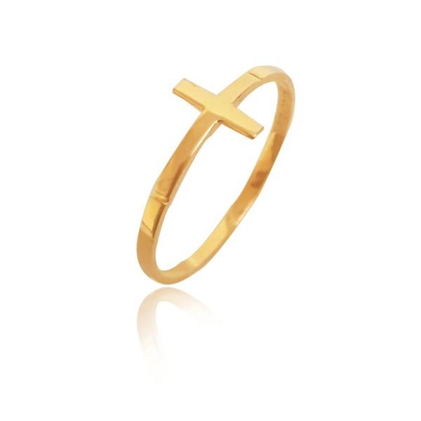 Anel em Ouro 18k amarelo de Cruz