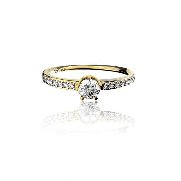 Anel solitário em Ouro 18K Amarelo com Diamante de 25 Pontos (Veja o vídeo)
