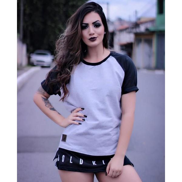 CAMISETA CINZA MOLETINHO