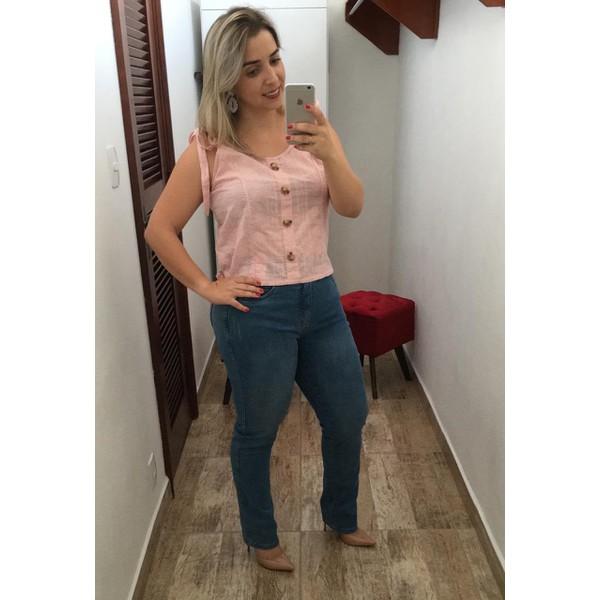 CALÇA FEMININA LOOPPER JEANS ESCURO