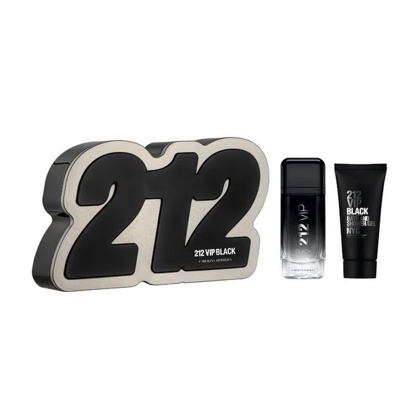 PERFUME 212 VIP BLACK MASCULINO EAU DE PARFUM 100ML + GEL PARA BANHO CAROLINA HERRERA