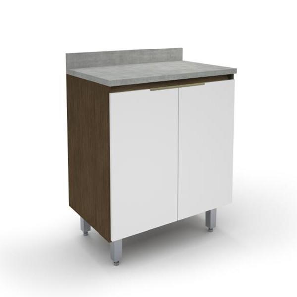 Gabinete Para Cozinha 2 Portas New 5176.18 Madeirado/Branco - Batrol Móveis