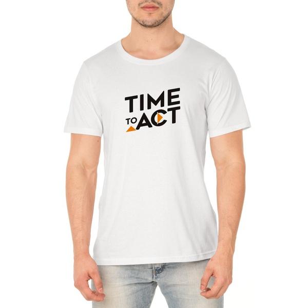 Camiseta Masculina Act Footwear - Branca