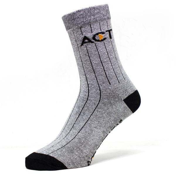 Meia de Algodão Cano Alto Act Footwear - Cinza
