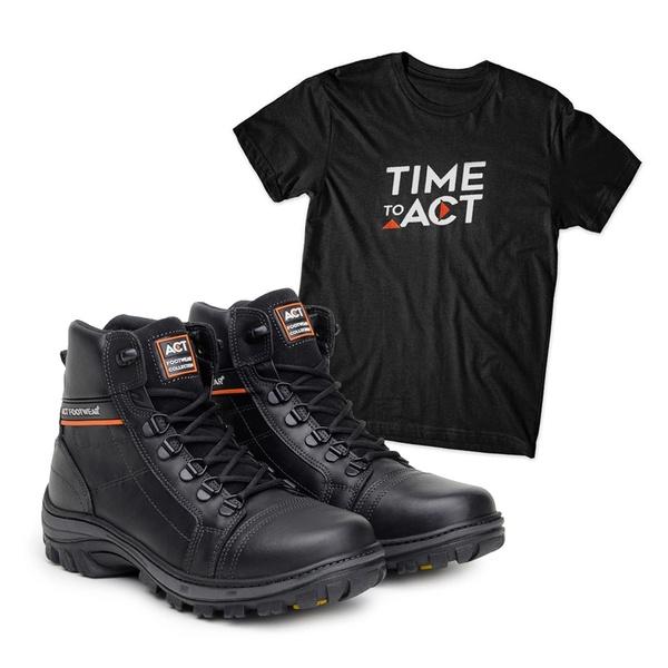 Bota ACT Scavator Preto + Camiseta Preto