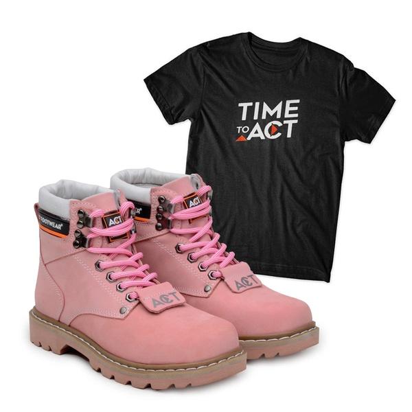 Bota ACT Second Shift Rose + Camiseta Preto