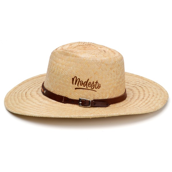 Chapéu de Palha Modesto C/ Tira Café