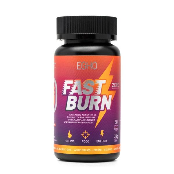 Termogênico EGHO FAST BURN - Queimador de Gordura, Foco e Energia - 60 Cáps