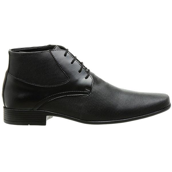 Sapato Social Couro Ecológico SLZ Boss - Preto