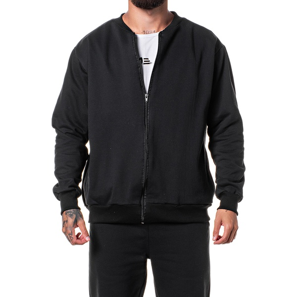 Jaqueta Moletom Bomber Masculina Adaption Lisa Preto