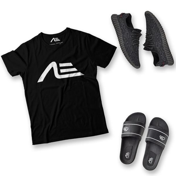 Kit Camiseta Tênis e Chinelo Adaption Preto
