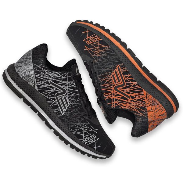 Kit 2 Pares Tênis Masculino Adaption Spider Preto/laranja