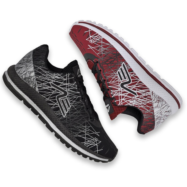 Kit 2 Pares Tênis Masculino Adaption Spider Preto/bordo