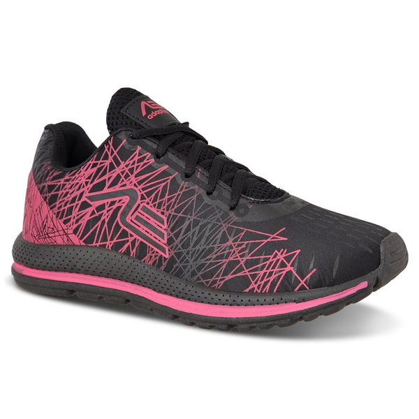 Tênis Feminino Adaption Spider Preto Rosa