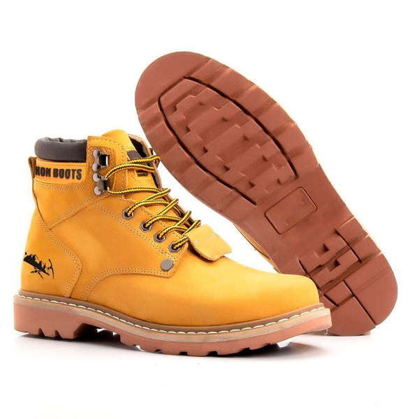 Bota Jhon Boots Masculina Second Shift Amarelo