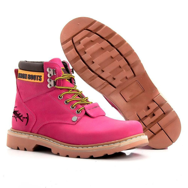 Bota Jhon Boots Masculina Second Shift Rosa