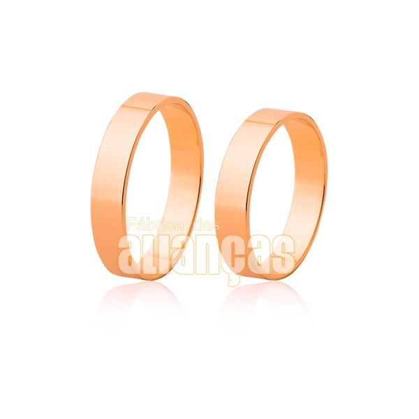 Alianças Em Ouro Rosê 10k