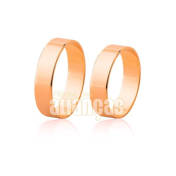 Par De Alianças Em Ouro Rosê 10k