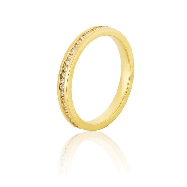 Aparador Para Aliança De Noivado e Casamento Em Ouro Amarelo 18k 0,750 Fa-801