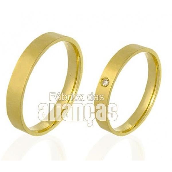 Alianças de Ouro com Diamante