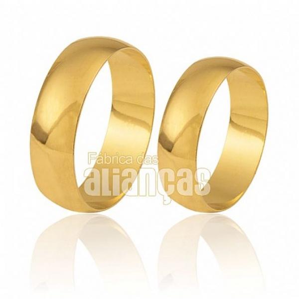 Alianças tradicionais em ouro 18K
