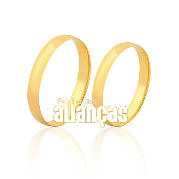 Par De Alianças De Ouro 18k