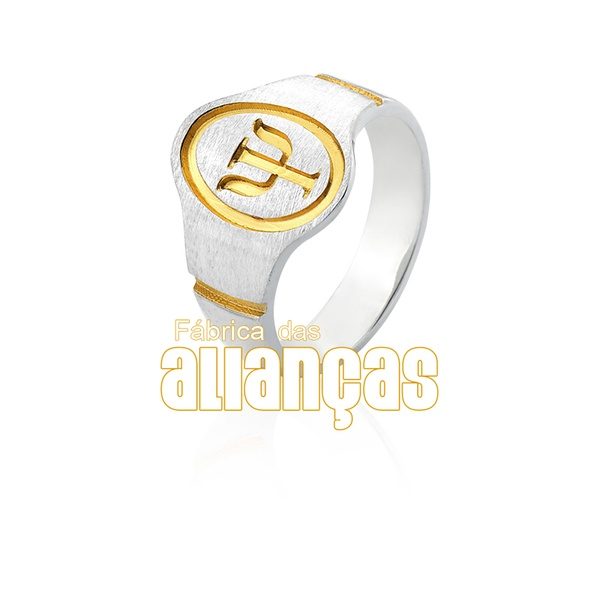 Anel De Formatura De Psicologia Em Prata 0,950 k - FA-AG-1403 - Fábrica das Alianças
