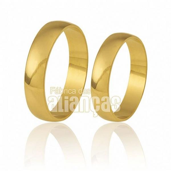 Lindas Alianças De Ouro 10k