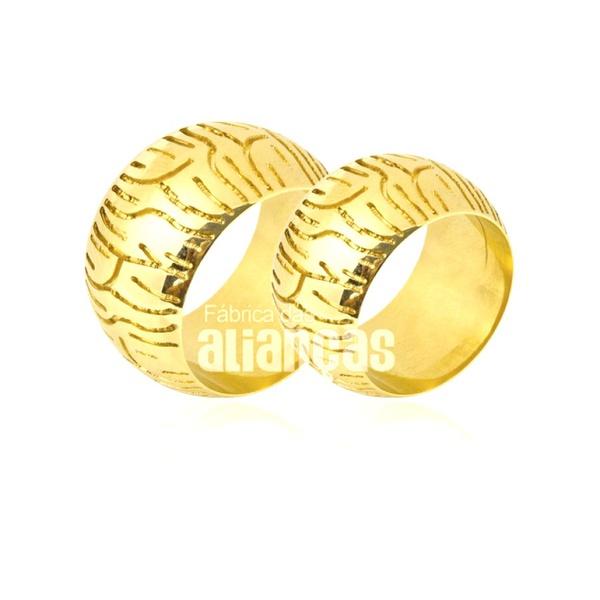 Alianças De Ouro 18k Personalizada Com Pneu De Moto Esportiva