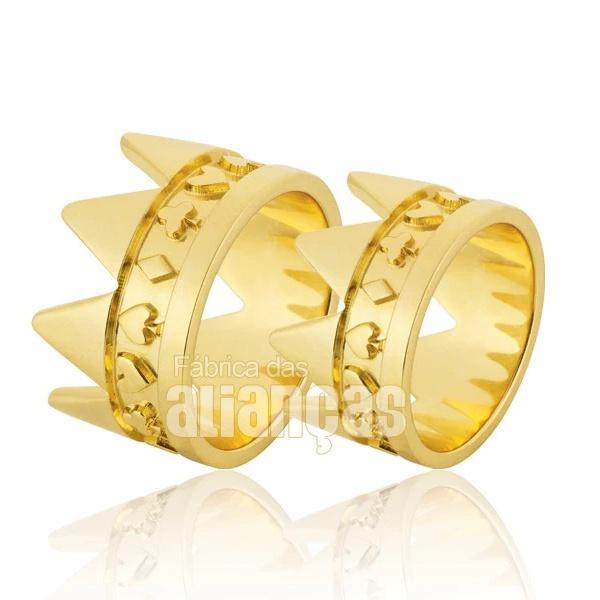 Alianças De Coroa De Ouro 18k