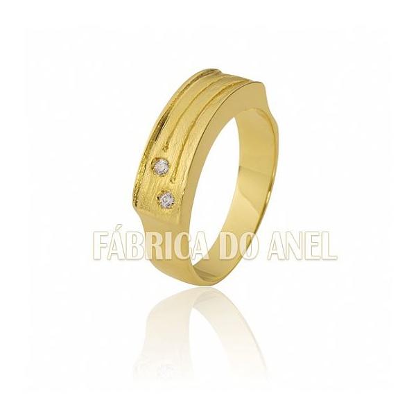 Anel Feminino Em Ouro Amarelo 18k 0,750 An-04