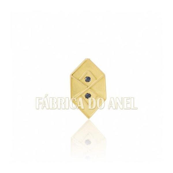 Boton De Formatura De Adm Em Ouro Amarelo 18k 0,750 B-212