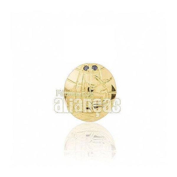 Boton De Formatura De Comex Em Ouro Amarelo 18k 0,750 B-217