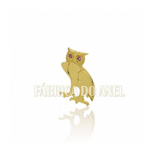 Boton De Formatura De Letras Em Ouro Amarelo 18k 0,750 B-225