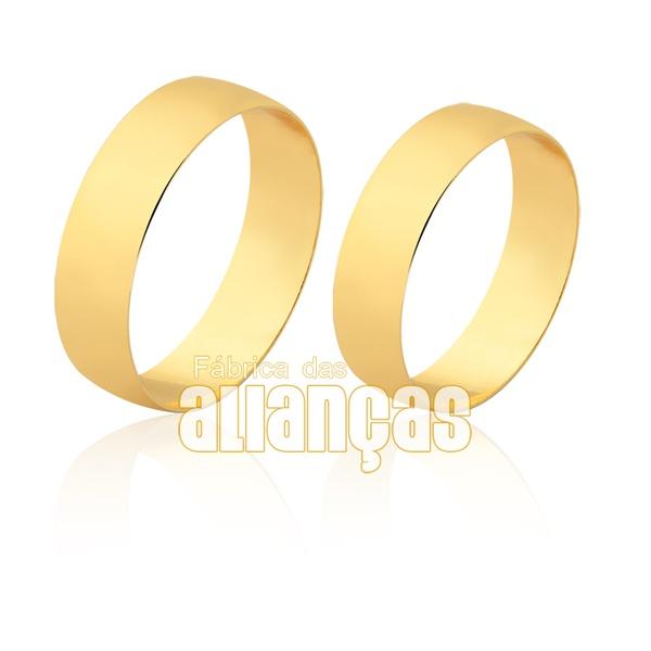 Alianças Retas em Ouro 10k