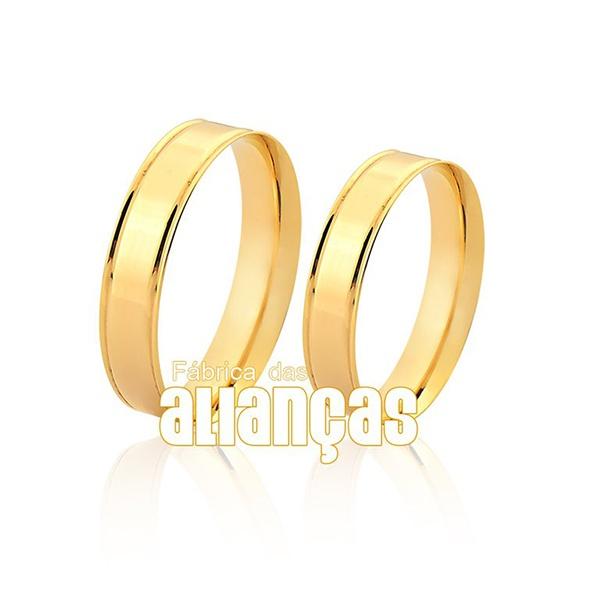 Alianças De Noivado De Ouro 18k