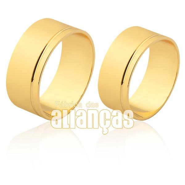 Alianças De Noivado e Casamento 18k De Qualidade