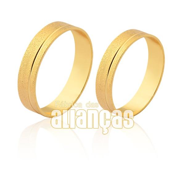 Lindas Alianças De Noivado e Casamento Em Ouro Amarelo 18k