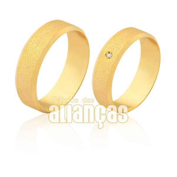 Aliança em ouro 18k com brilhante