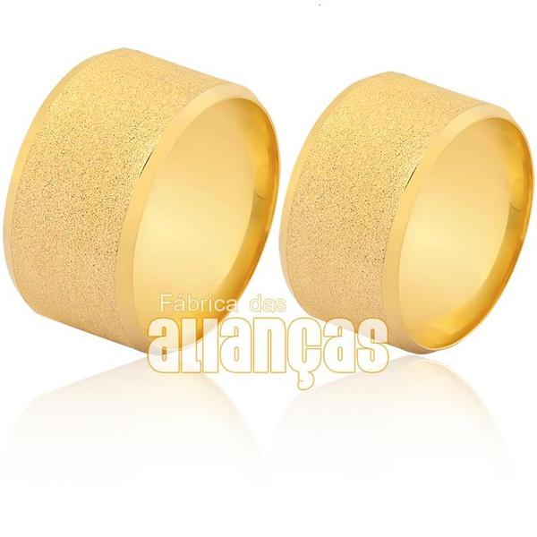 Alianças De Noivado e Casamento Em Ouro Amarelo 18k 0,750 Fa-1607