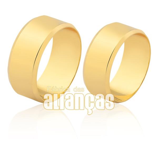 Aliança em ouro amarelo 18k