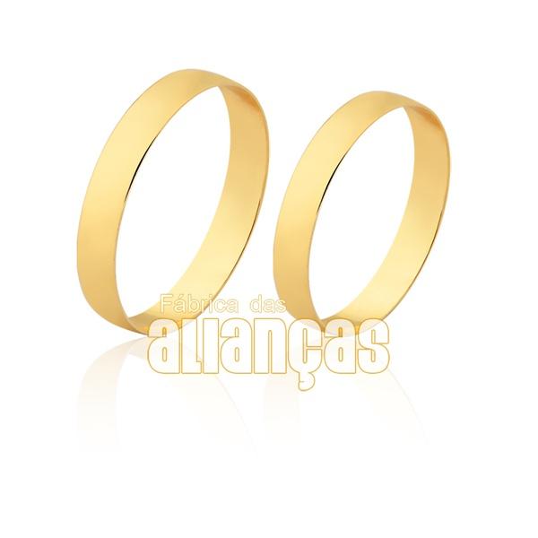 Alianças finas em ouro a amarelo 18k